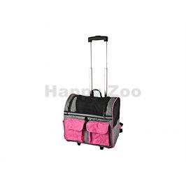 Taška na kolečkách FLAMINGO Kiara Double růžová 45x29x45cm (do m