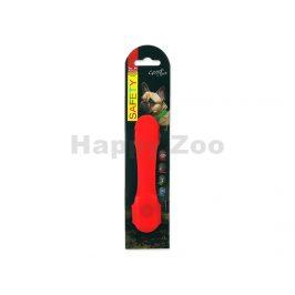 Svítící návlek na obojek DOG FATNASY LED červený 15cm