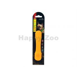 Svítící návlek na obojek DOG FATNASY LED oranžový 15cm
