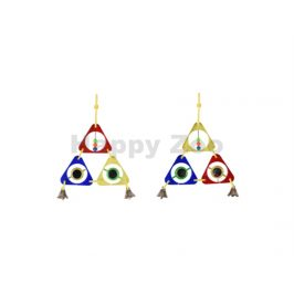 Hračka pro ptáky FLAMINGO - barevný triangl (MIX BAREV)