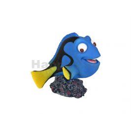 Akvarijní dekorace FLAMINGO - Leto ryba modrá 9x7x9cm