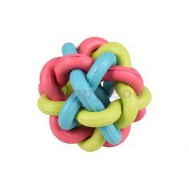 Hračka FLAMINGO guma - spletený míč 10cm