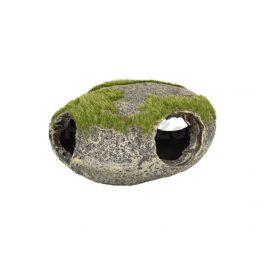 Akvarijní dekorace FLAMINGO - Kozma děrovaný kámen s trávou 12x1