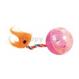 Hračka pro kočky TRIXIE - míček rachtací s ocáskem 4cm (2ks)