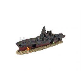 Akvarijní dekorace FLAMINGO - Ropa vrak lodi 48,5x11x19cm