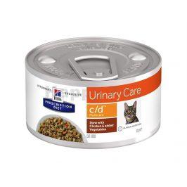 Konzerva HILLS Feline Stew C/D Multicare with Chicken & Vegetabl