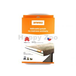 Potah na matraci AMINELA 100x70x10cm šedý/oranžový