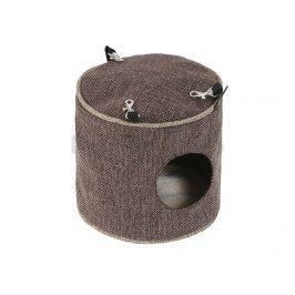 Závěsný domeček pro hlodavce O´LALA PETS Luxury 15x15cm tmavě hn
