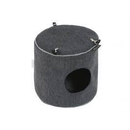 Závěsný domeček pro hlodavce O´LALA PETS Luxury 15x15cm tmavě še