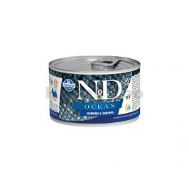 Konzerva N&D Dog Ocean Adult Herring & Shrimps Mini 140g