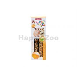 Tyčinky ZOLUX Crunchy Sticks jablko/vejce pro křečky (2ks)