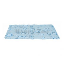 Chladící podložka TRIXIE motiv bublinky světle modrá 90x50cm