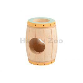 Hračka pro hlodavce FLAMINGO - Tinta dřevěný soudek 9x6,5x6,5cm
