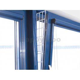 Ochranná mřížka TRIXIE do okna boční bílá 62x16cm/7cm