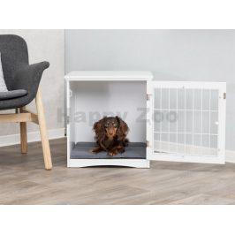 Klec a bouda TRIXIE Home Kennel s pelechem bíla (S) 48x51x51cm