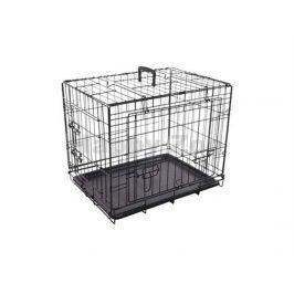 Klec pro psy FLAMINGO Nyo s posuvnými dveřmi černá (S) 45x62x49,