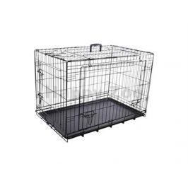 Klec pro psy FLAMINGO Nyo s posuvnými dveřmi černá (M) 47x77x53,