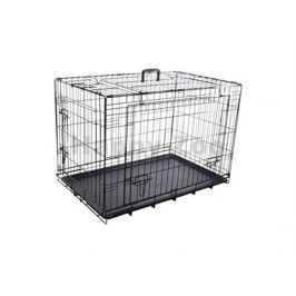 Klec pro psy FLAMINGO Nyo s posuvnými dveřmi černá (L) 59x93x62,