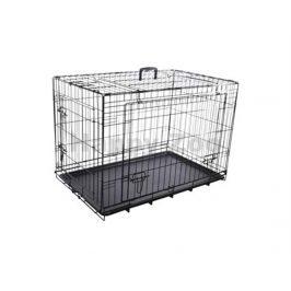 Klec pro psy FLAMINGO Nyo s posuvnými dveřmi černá (XXL) 77x124x