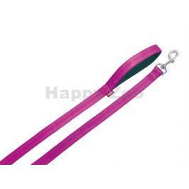 Vodítko NOBBY Soft Grip nylonové růžové 1,5x120cm