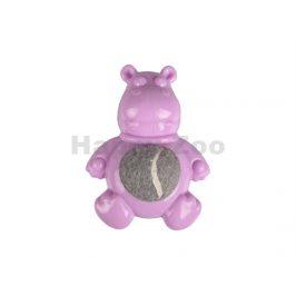 Hračka FLAMINGO guma TPR - Loekie Puppy hroch s míčem fialový 7,