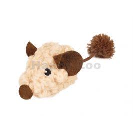 Hračka pro kočky FLAMINGO - chlupatá myš 8cm