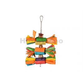 Hračka pro ptáky FLAMINGO - Rainbow Art 31cm