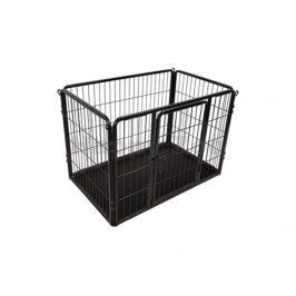 Ohrádka pro psy FLAMINGO Kazan černá (S) 93x59x63cm