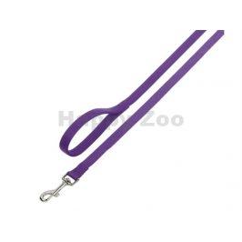 Vodítko NOBBY Classic nylonové fialové 2x120cm