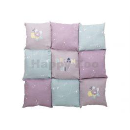 Deka TRIXIE Junior Patchwork fialová/mátová/růžová60x60cm
