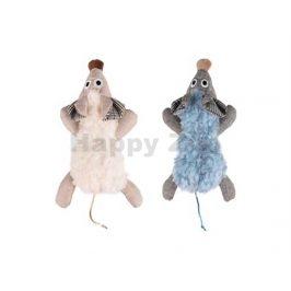 Hračka pro kočky FLAMINGO - Rizzo myš 35cm (MIX BAREV)