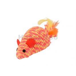 Hračka pro kočky FLAMINGO - Bibi myš oranžová chrastící 6x21x5cm