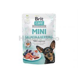 Kapsička BRIT CARE Dog Mini Sterilized Salmon & Herring  in Grav