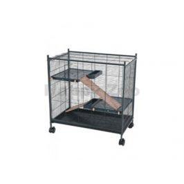 Klec pro hlodavce ZOLUX Indoor2 Mini Loft černá/růžová 73x73x72c