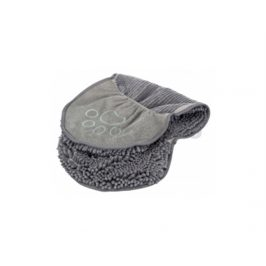 Ručník TRIXIE s kapsami na ruce z mikrovlákna šedý 80x35cm