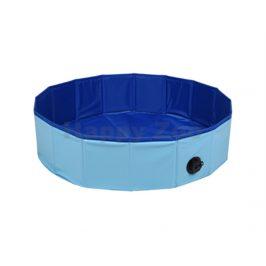 Bazén pro psy FLAMINGO Splatter modrý 80x20cm
