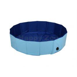 Bazén pro psy FLAMINGO Splatter modrý 120x30cm