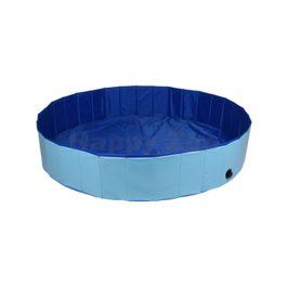 Bazén pro psy FLAMINGO Splatter modrý 160x30cm