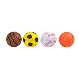Hračka pro kočky FLAMINGO - pěnové míčky 4cm (4ks) (DOPRODEJ)
