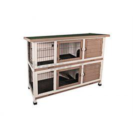 Dřevěná klec pro králíky FLAMINGO Combi 122x50x102cm
