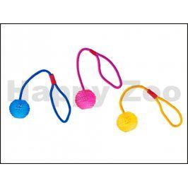 Hračka KARLIE-FLAMINGO TPR guma - míč s provazem 7cm (MIX BAREV)