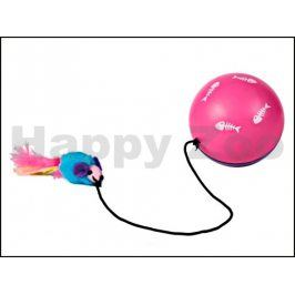 Motorový míč TRIXIE Turbino s myší na gumičce 9cm