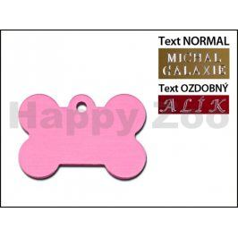 QUICK TAG gravírovací známka - světle růžová kost (L)