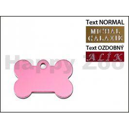 QUICK TAG gravírovací známka - růžová kost (S)