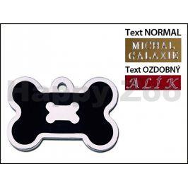 QUICK TAG gravírovací známka - černá epoxidovaná kost (L) (DOPRO