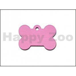 QUICK TAG gravírovací známka - kost růžový hologram (L)