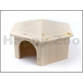 Dřevěný domek JK Jurta pro králíky 29x17cm