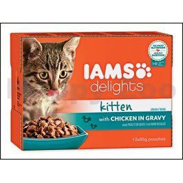Kapsička IAMS Kitten Delights Chicken in Gravy Multipack (12x85g
