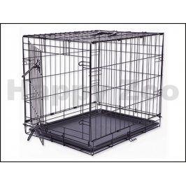 Klec pro psy DOG FANTASY skládací černá (S) 61x48x46cm