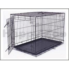 Klec pro psy DOG FANTASY skládací černá (L) 92x64x59cm